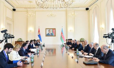 Azerbaijani, Serbian presidents held expanded meeting
