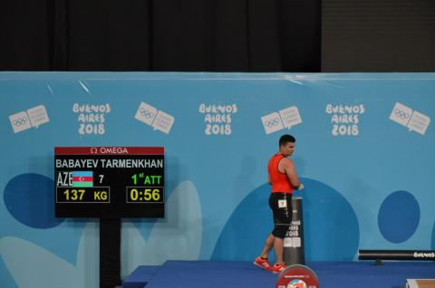Azerbaijani weightlifter takes silver at 3rd Youth Olympic Games