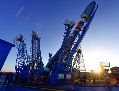 Soyuz carrier rocket installed on Russia's Vostochny launch pad