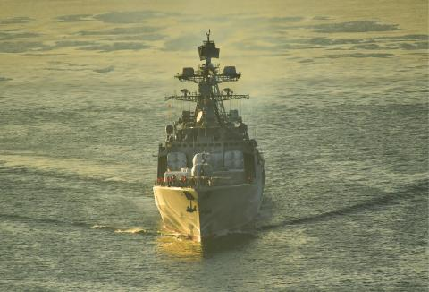 Russian, Chinese warships conduct first ever joint patrol in western Pacific