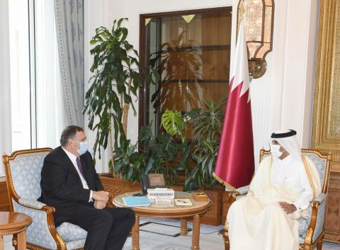 Qatar's Prime Minister Meets Chairman of Total