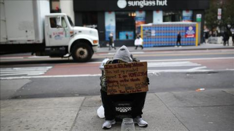 Homeless people in US surpass 47 Turkish cities