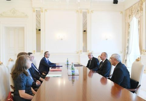 President Ilham Aliyev received delegation led by Total CEO