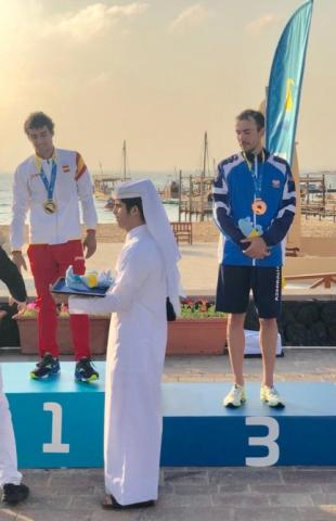Azerbaijani triathletes win two medals at World Beach Games