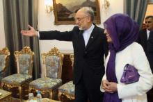Iran FM Meets Iraqi First Lady