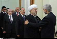 Secretary of Iranˈs (SNSC) Saeed Jalili meets with Head of Caucasus Muslims Offi